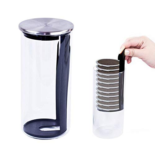 Innosign Kaffeepadbehälter aus Glas