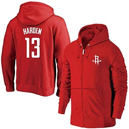 Sudadera de baloncesto de la NBA Rockets Harden con capucha, casual (color rojo, talla: 3XL) – unisex (color: rojo, talla: XXL)