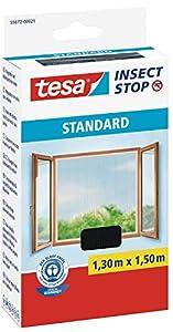 TESA 55672-00021-02 - Malla Standard para ventanas, Negro, 1,30 x 1,50 m