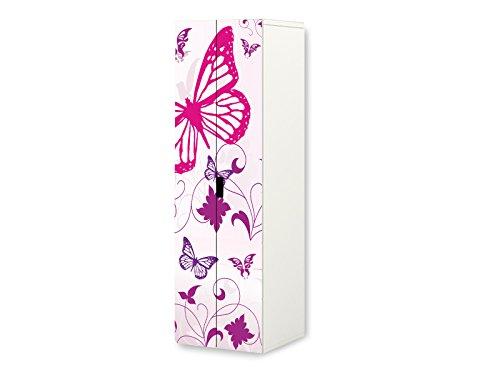 Stikkipix Butterfly Möbelfolie | SKL04 | passend für den STUVA Kleiderschrank von IKEA | passgenauer Möbelaufkleber (Korpus 60 x 192cm) | Möbel Nicht Inklusive
