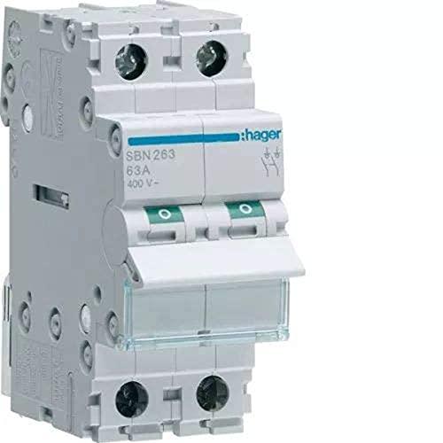 Hager sb - Interruptor modular corte sb 2 polos 63a