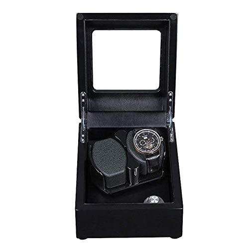 GUOCAO Mira enrollador for Relojes automáticos del Reloj Duradero Soporte de exhibición de Doble Reloj de Cuerda automática Case Memoria 2 de Pulsera Monitor