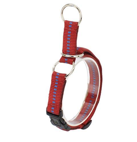 Ernst Koch G3322002 Nylon-Zughalsband mit Begrenzung und Klickverschluss  gepolstert, S, rot