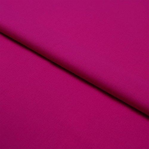 Hans-Textil-Shop Stoff Meterware Pink Baumwolle Linon (Einfarbig, Uni, Schadstoffgeprüft, Pflegeleicht, ca 145 g/qm, ca. 140 cm breit, 1 Meter)