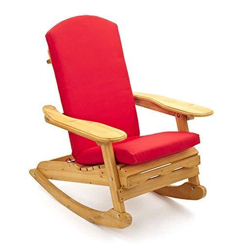 Cuscino per Sedia a Sdraio / Dondolo Adirondack Trueshopping – Colore: Rosso – SOLO CUSCINO