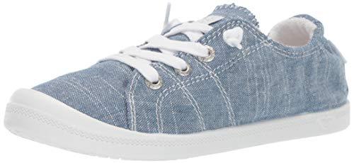 Roxy Girls' RG Bayshore Slip On Sneaker Shoe Slipper, Chambray New, 3 M US Big Kid