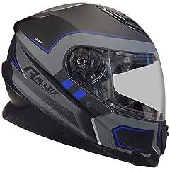 Rallox Helmets 510-3 schwarz blau RALLOX