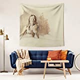 LunchBaggg Andrew Wyeth 1974 Nude for Helga 59x59inch Wall Hanging Blanket Nature Landscape Tapestry Rustic Curtain Picnic Mat