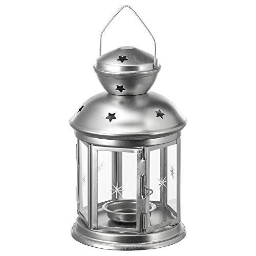 IKEA ROTERA - Farol para velas de té (21 cm, galvanizado)