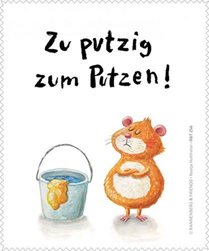 Rannenberg & Friends Reinigungstuch Brillenputztuch Zu Putzig Hamster Microfasertuch Reinigungstücher Brillenputztücher Tücher