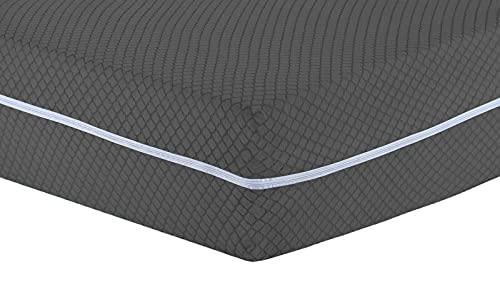 Matratzenschoner gegen Bettwanzen, vollständig umhüllt, mit Reißverschluss, grau, für Kingsize-Bett, mit Reißverschluss, Anti-Staub, pflegeleicht (King - Grey Bezug)