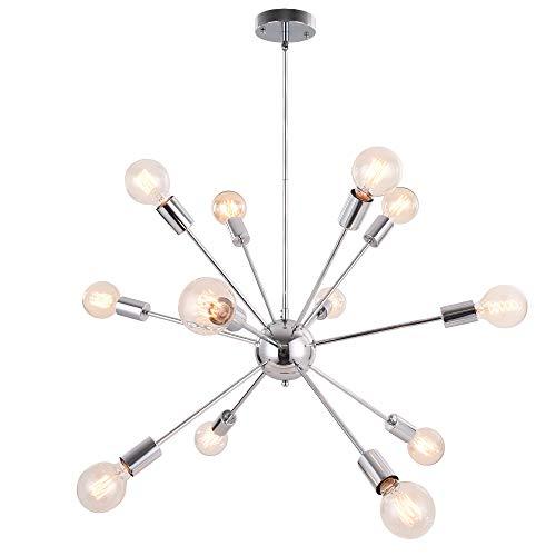 OYIPRO Sputnik Lampadario Modern sfera Lampada a sospensione con 12 E27 per soggiorno Camera da letto Loft (Senza lampadina)