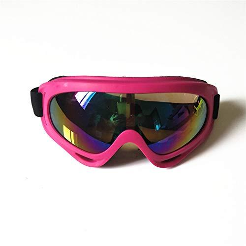 N\A Gafas de Snowboard de esquí Color Profesional Nieve a Prueba de Viento x400 UV ProtectionOutdoor Deportes Anti-Niebla Gafas de esquí Snowboard Skate Skiing Gafas (Color : Pink Colorful)