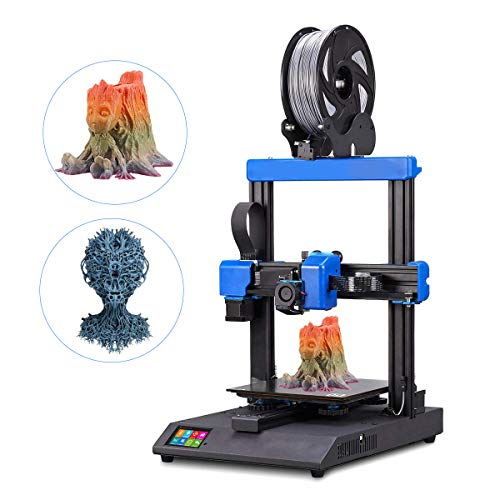 3D Printer, Newly Ultra Quiet High precision, 2.8' Full-Color Touch Screen, Resume Printing, Filament Detector, Built-in Safety Power Supply 220x220x250mm
