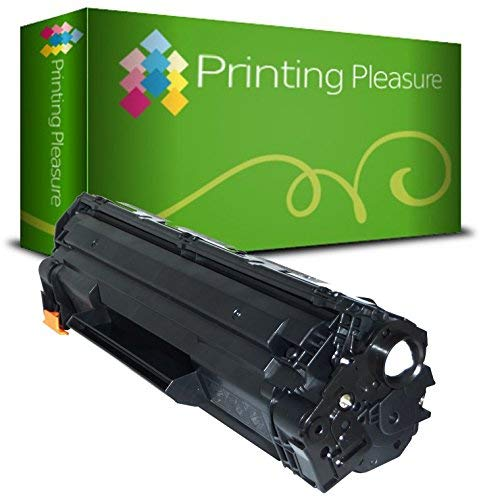Printing Pleasure Toner Compatibile CE285A 85A Cartuccia Laser per HP Laserjet Pro P1102 P1102W M1210 M1212 M1212NF M1213NF M1217NFW M1130 M1132 M1132MFP M1134 M1136 M1136MFP P1100 - Nero, Alta Resa