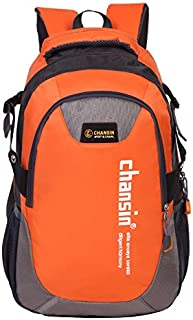 Chansin Casual Bag Multi-Functional Zipper Preppy Students Lovely Brief Chic School Backpack Orange