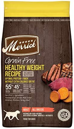 Merrick Grain Free Dry Dog Food Healthy Weight Recipe 22 0 lb Bag Packaging May Vary product image