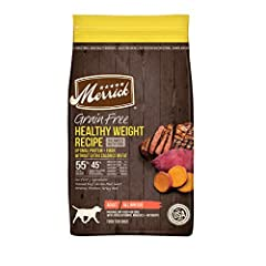 Real deboned beef is always the first ingredient Dry food for dogs with 55% protein and healthy fat ingredients and 45% produce, fiber, vitamins, minerals and other natural ingredients With 80% of protein from animal sources, the Merrick Grain Free D...