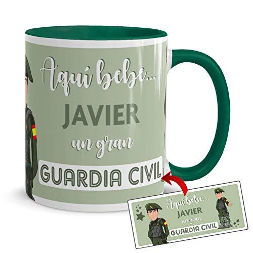Kembilove Taza de Café del Mejor Guardia Civil del Mundo Personalizada con el Nombre – Taza de Desayuno para la Oficina – Taza de Café y Té para Profesionales – Taza Impresa para Guardias Civiles