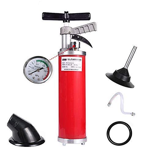 Hochdruck-WC-Dredge, aufblasbarer WC-Saugglocker, WC-Dredge-Werkzeug, professioneller Hochdruck-One-Shot Artillerie Artifakt (mit 4 Zubehör)