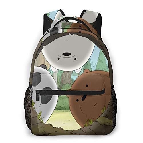 We Bare Bears Fashion Casual Backpack Light Travel Backpack Student School Bag