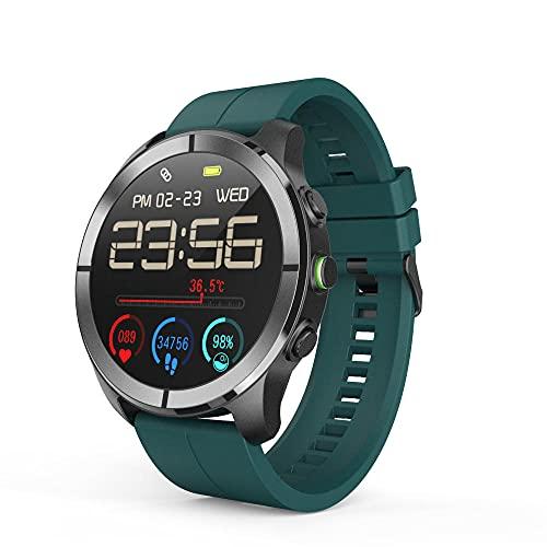 Zfeng Deportes al aire libre Bluetooth pulsera inteligente hiperboloide pantalla grande temperatura corporal ritmo cardíaco y oxígeno en sangre Monitor de detección de salud reloj inteligente -D_M
