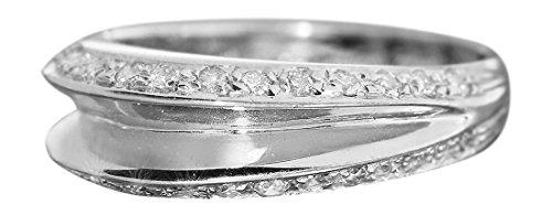 Hobra-Gold 0,36 ct. Brillantring Weißgold 750 Ring super Design Weißgoldring Damenring 18 Kt