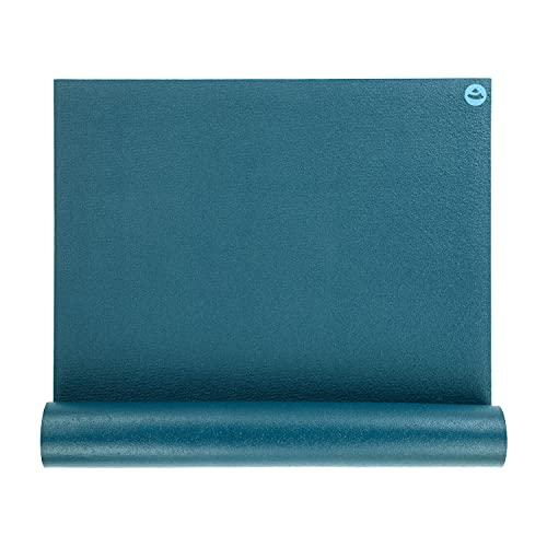 bodhi   Yogamatte RISHIKESH PREMIUM   Lang< 200 x 80 cm >Breit  XL Gymnastikmatte, rutschfest, groß & extra-stark, 4,5mm   Fitnessmatte, Ökotex 100, maschinenwaschbar, blau   Made in Germany