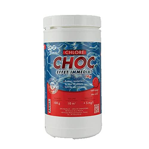 EDG EDENEA - Chlore Rapide (Chlore Choc) Piscine - Granulés - Boite 1 kg - Chlore Rapide Effet Immédiat