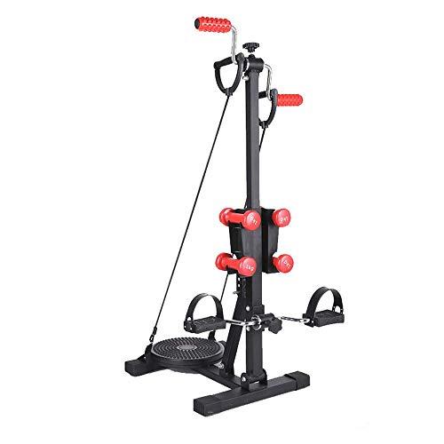 XBSLJ Mini Exercise Bike Pedal Exerciser-Hand, Arm & Leg Exercise Peddling Machine, Adjustable Fitness Rehab Equipment for Seniors, Elderly, Patient,Equipped with Waist Exercise disc and 4 Dumbbells