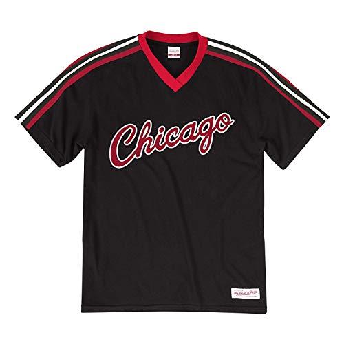 Mitchell & Ness Chicago Bulls Overtime Win V-Neck NBA T-Shirt Schwarz, L