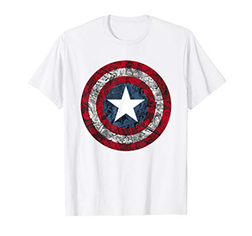 Marvel Captain America Avengers Shield Comic T-Shirt C1