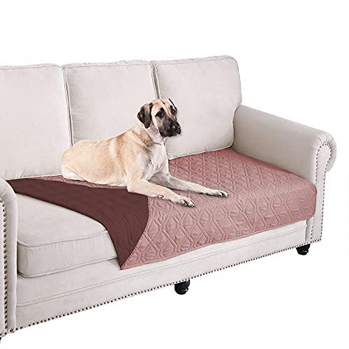 Ameritex Funda impermeable para cama de perro, manta para mascotas, para muebles, cama, sofá, reversible, 76,2 x 188,8 cm, rosa y...