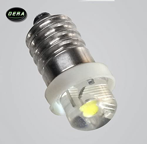 DERA E10 Led Flashlight Quality inspection Replacement Bulb Torch 3 Light Cool Very popular Lamp