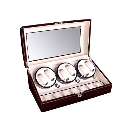 LLSS 6 + 7 Devanadera de Reloj Unisex de Madera, Pintura de Piano de Alto Brillo, Relojes Caja automática de enrollador de Reloj Caja de Reloj Caja de visualización de Almacenamiento Caja de