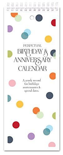 Confetti Dots Perpetual Birthday & Anniversary Calendar