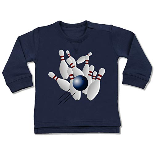 Sport Baby - Bowling Strike Pins Ball - 12/18 Monate - Navy Blau - Bowlingkugel - BZ31 - Baby Pullover