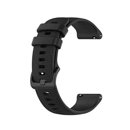 Yeejok 22mm Silicone Watch Bands Compatible for Fossil Men's Gen 5 Carlyle/Gen 4 Explorist HR/Women's Gen 5 Julianna Smart Watch, Replacement Quick Released Sport Fitness Watch Strap-Black