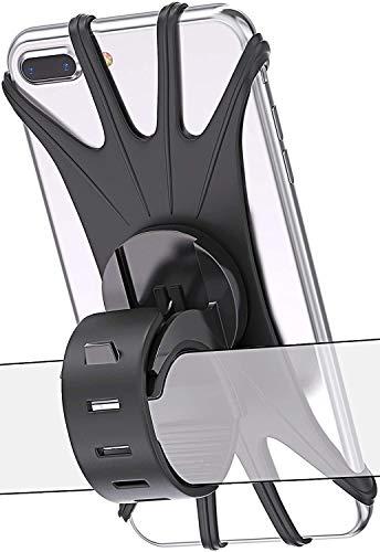 Bovon - Soporte Movil Bicicleta, Soporte Universal Manillar de Silicona para Bicicleta Motocicleta, Apoyo 360° Rotación para iPhone y Samsung