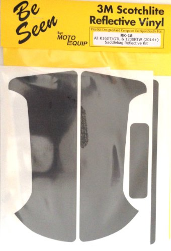 """Moto Equip Reflective Sticker Kit made from 3M Vinyl tape for BMW R1200RTW""""Water Cooled"""" Side Bags ME-RK-18-RT"""