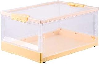 ZQCM Boîte De Rangement Pliante, Boîte De Rangement Transparente en Plastique Ménager Empilable, Boîte De Rangement pour L...