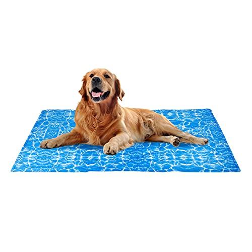Alfombra Refrigerante para Perros Gatos Mascotas, Manta Refrescante, Autoenfriamiento, No Tóxico, Colchón Impermeable para...