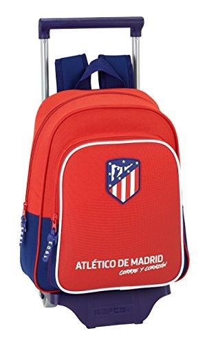 Safta Mochila Infantil Atlético De Madrid 'Coraje' Oficial Con Carro Safta 125x95mm