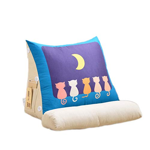 LF- Triangle pad sofa cushion 45cm/60cm pillow triangle pad mattress office bedside pillow neck pillow multicolor support (Color : F, Size : 60cm)