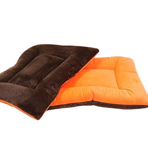 Jucon Hundedecke, Katzendecke, Tierdecke in verschiedenen Größen (85 x 68 cm, braun/orange)