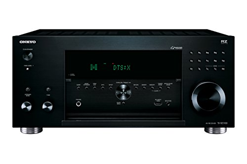 Onkyo TX-RZ1100(B) 9.2-Kanal AV Receiver (THX Kinosound, Dolby Atmos, DTS:X, 4K Durchleitung, WLAN, Bluetooth, Musik Streaming, Spotify u.a., Internetradio, Multiroom, 200 W/Kanal), schwarz