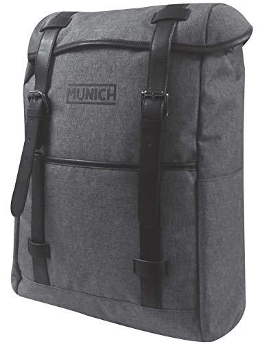 Munich Tech/Business Mochila Tipo Casual, 41 cm, 22 litros, Gris
