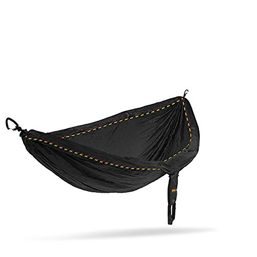 ENO - Eagles Nest Outfitters DoubleNest Lightweight Camping Hammock, 1 to 2 Person, Rasta Limited Edition