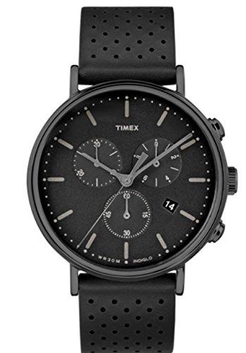 TIMEX タイメックス 腕時計 ウィークエンダー フェアフィールド クロノ ブラックレザー TW2R26800