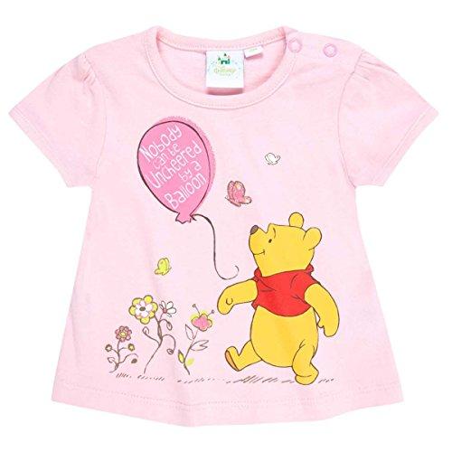 Tee shirt bébé fille manches courtes Winnie l'ourson Rose de 3 à 24mois (12 mois)